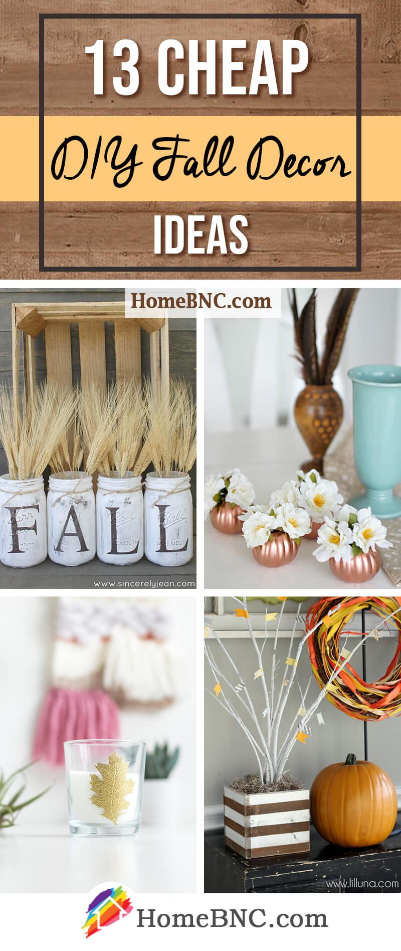 Cheap DIY Fall Decor Ideas