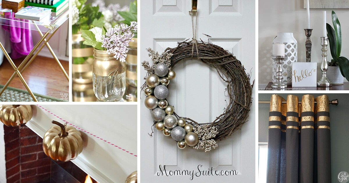 20 Best Diy Silver And Gold Decor Ideas For 2019