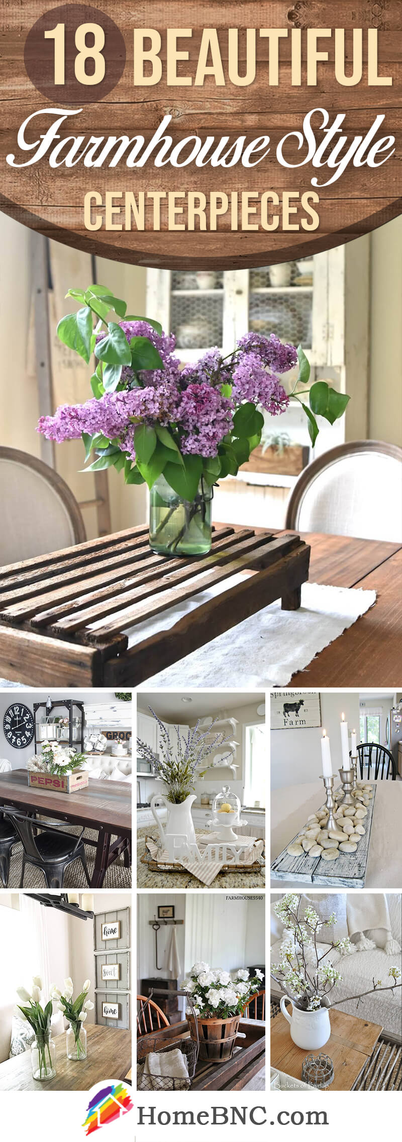 Farmhouse Style Centerpiece Ideas