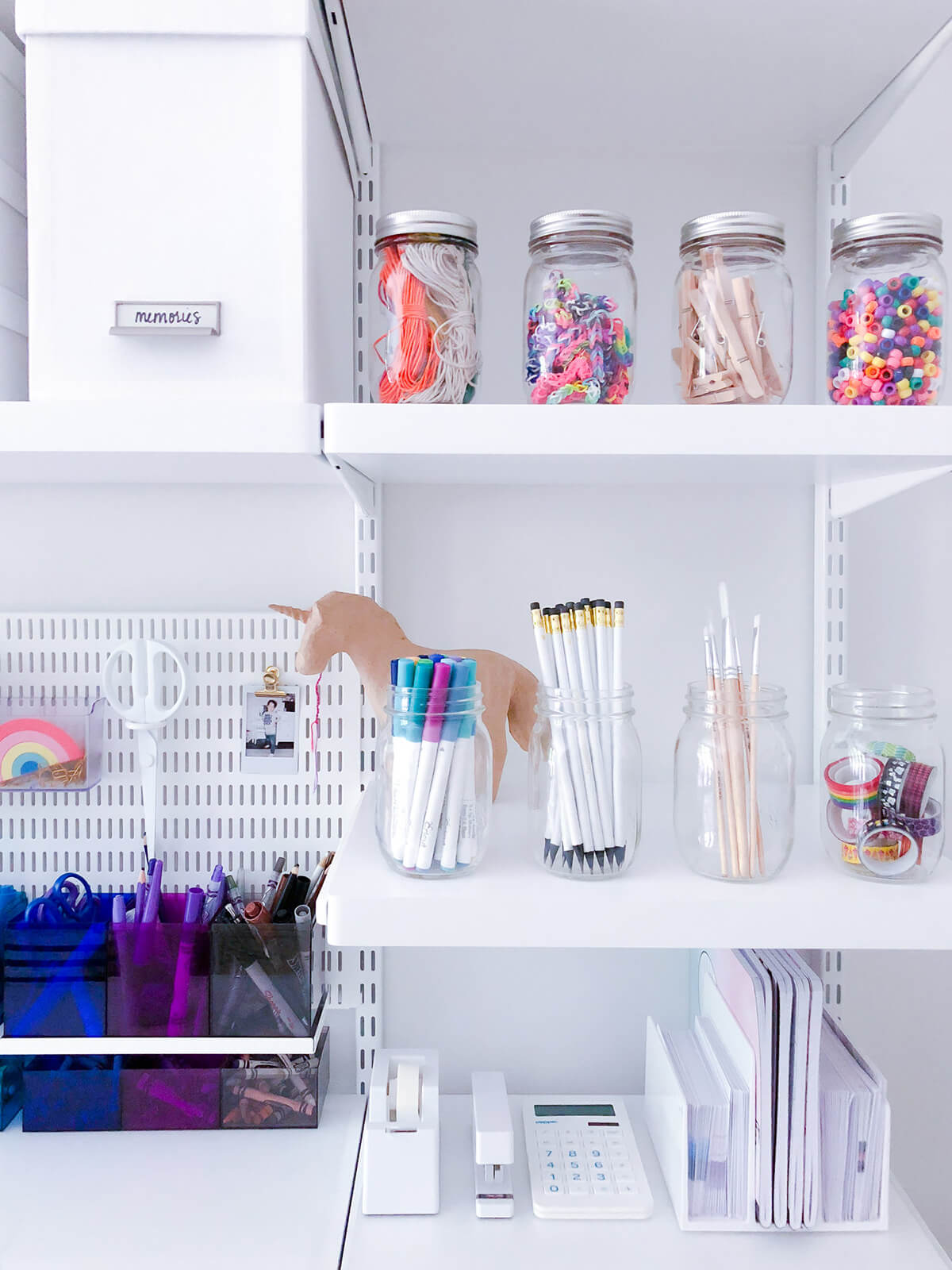 Maximize Shelf Space with Mason Jars