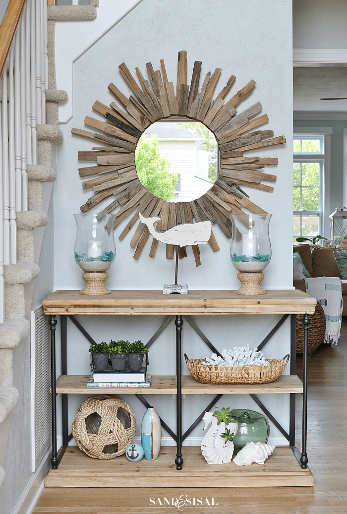 Rustic Sunburst in the Entry Hall