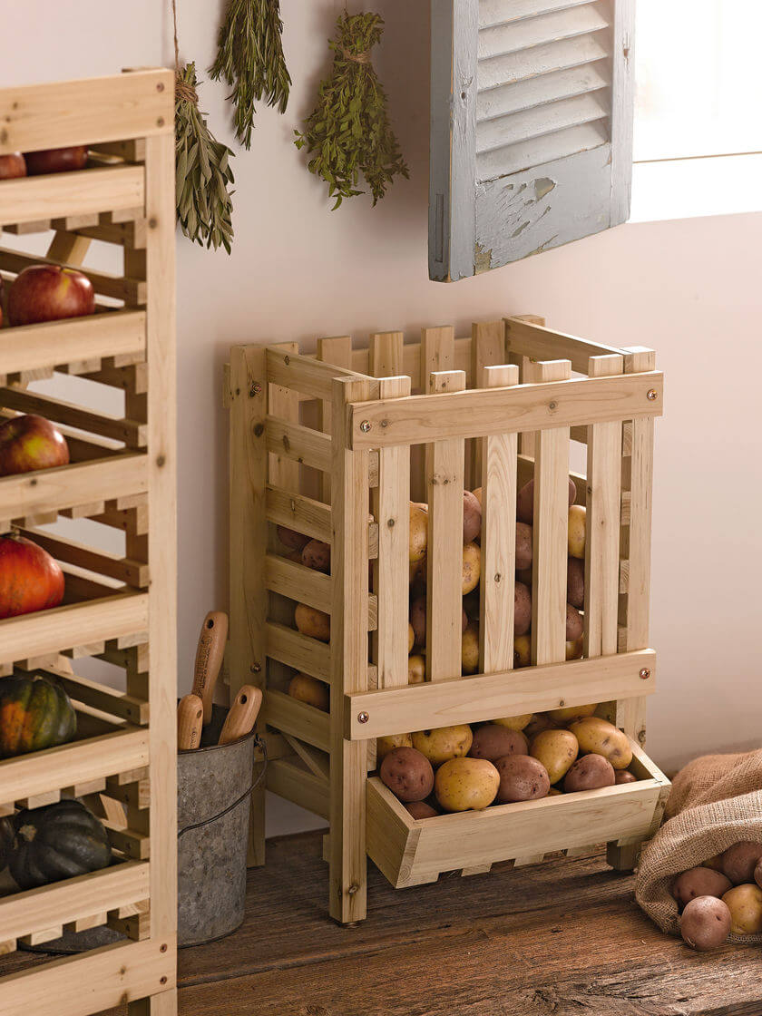 Wooden Collapsable Vegetable Storage Crate