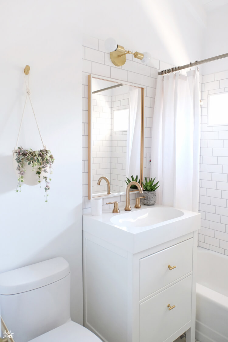 A Simply Beautiful White Vanity