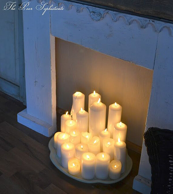 Pure Light and Pure White in a Fireplace