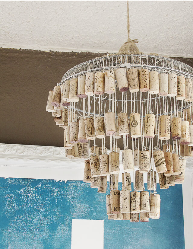 A Cork Chandelier That Can Delight