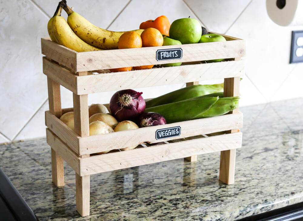 Two Step Table Top Fruit And Veggie Holder