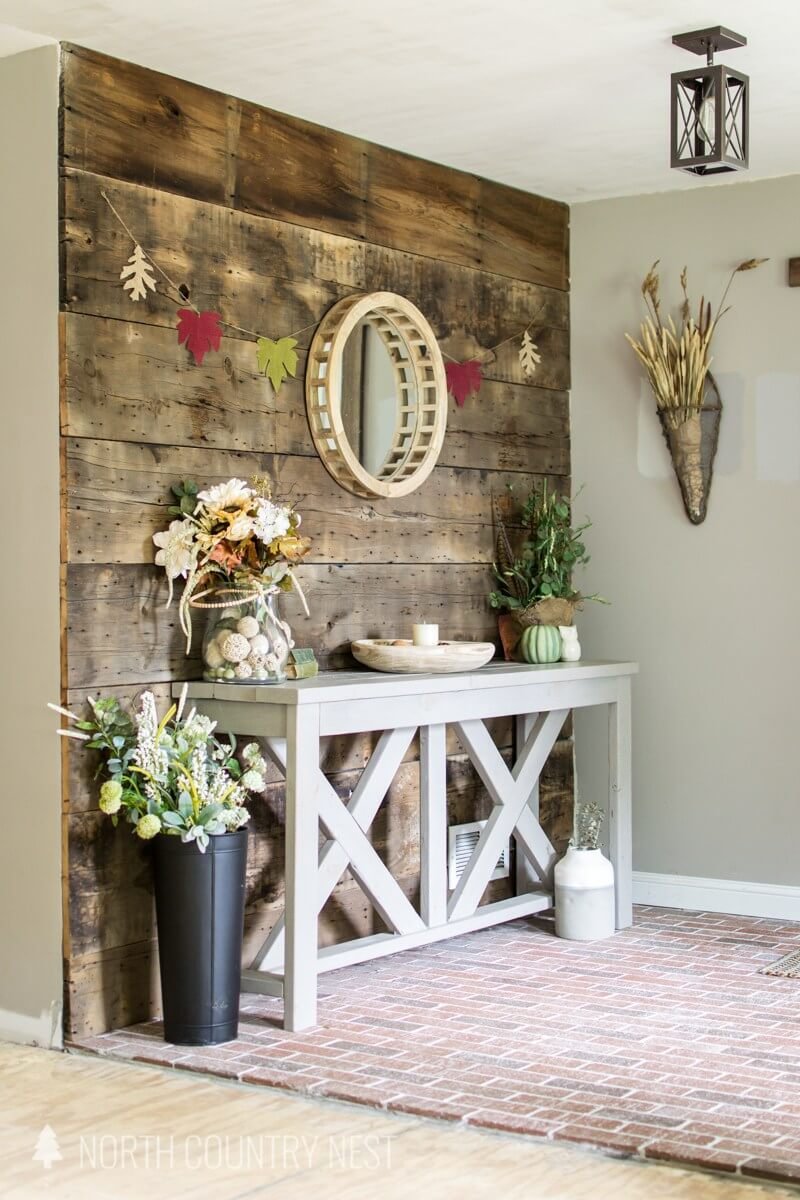 Repurposed, Galleried Tray Table