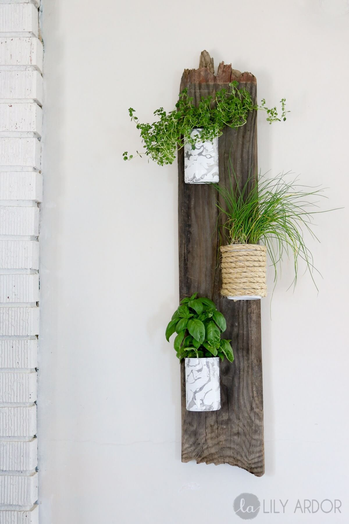 Uniquely Vertical Wood Pallet Planter