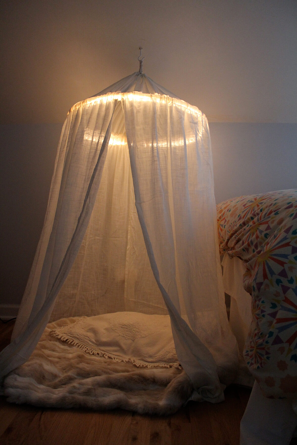 An Angelic Halo Over a Romantic Bed