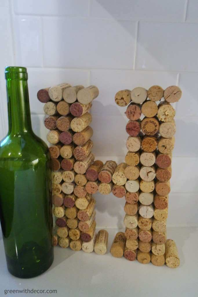 A Decorative Letter Made of Corks