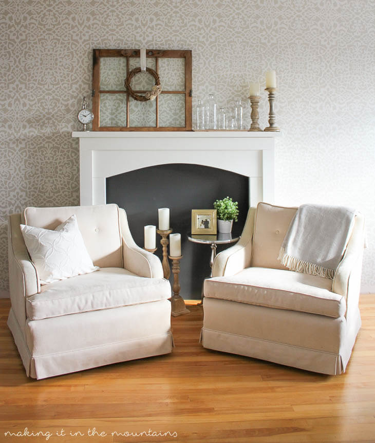 Rustic Accessories and Comfortable Fireside Chairs