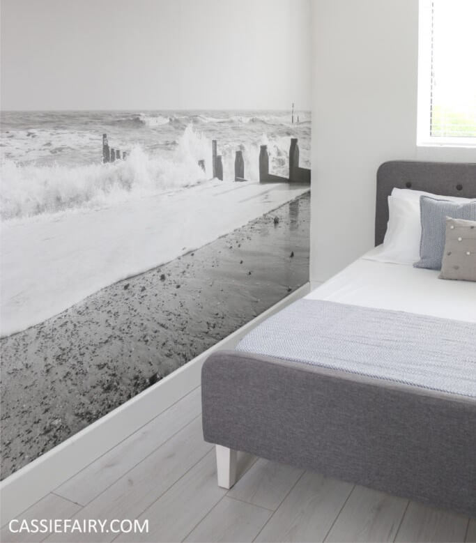 Graphics Visually Expand a Small Bedroom