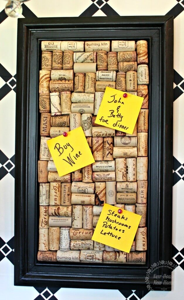 Don't Forget Chores Again With This Cork Board