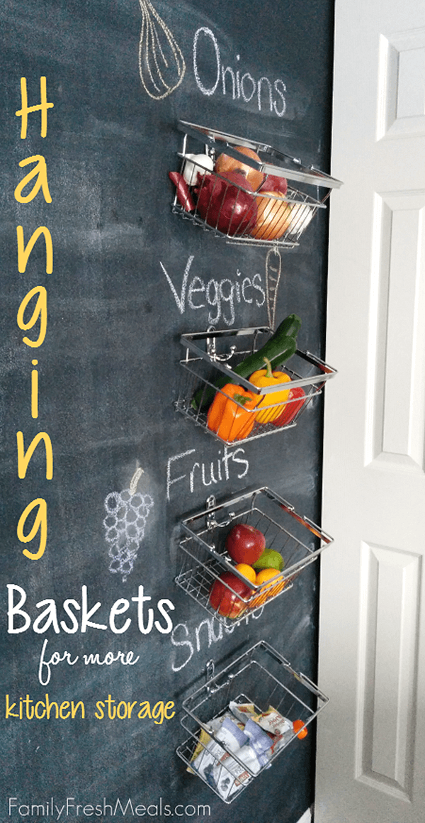 Chalkboard Kitchen Storage Baskets