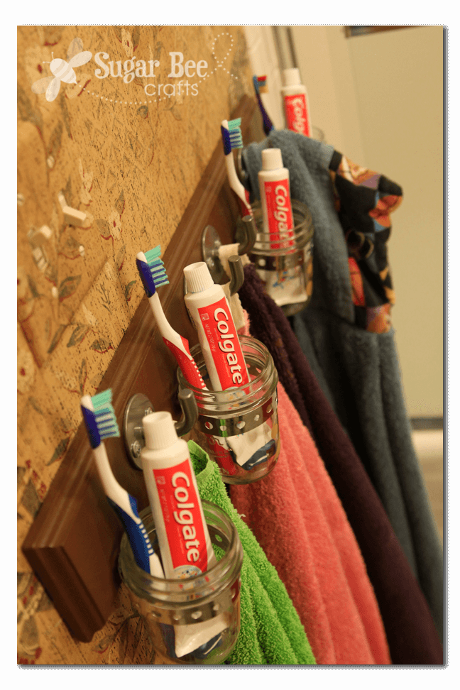 Keep Teeth and Towels Neat with a DIY Organizing Rack