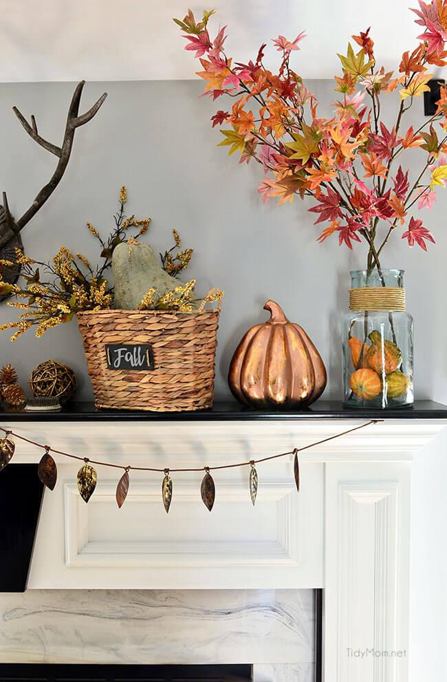 A Copper Pumpkin Amidst Autumn's Splendor