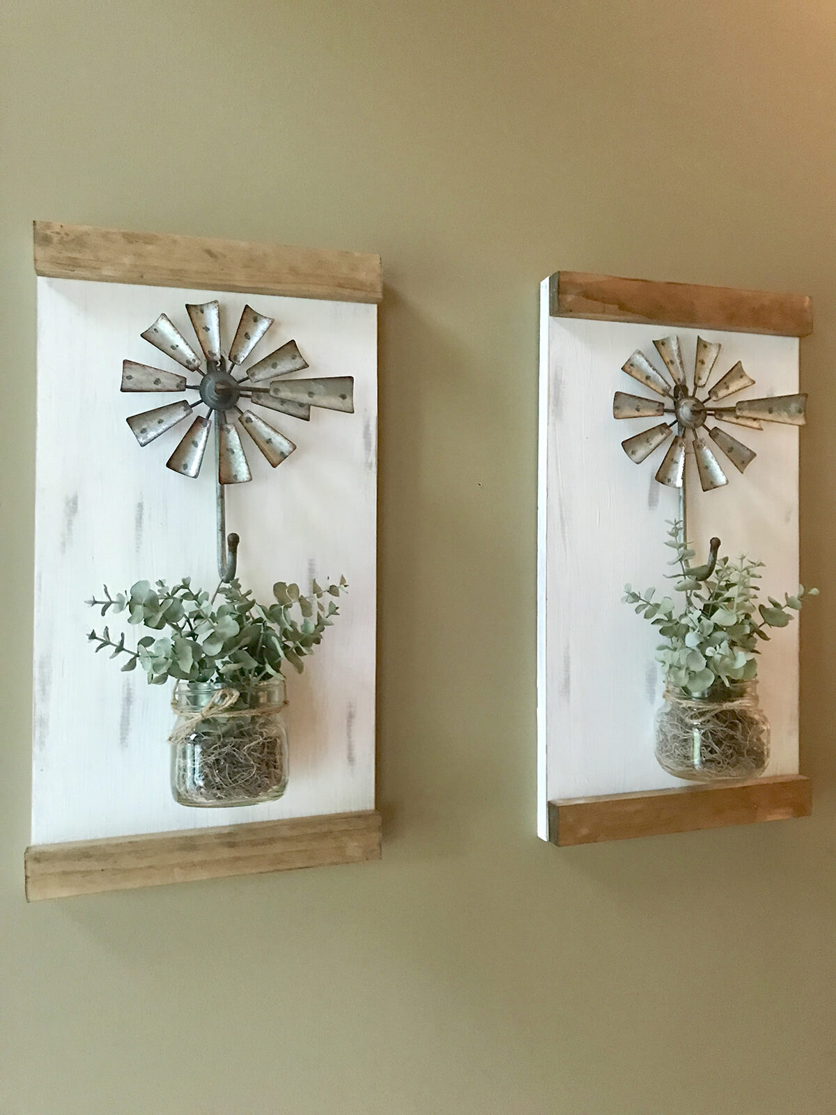 Homemade Windmill Planters for Artists and Designers