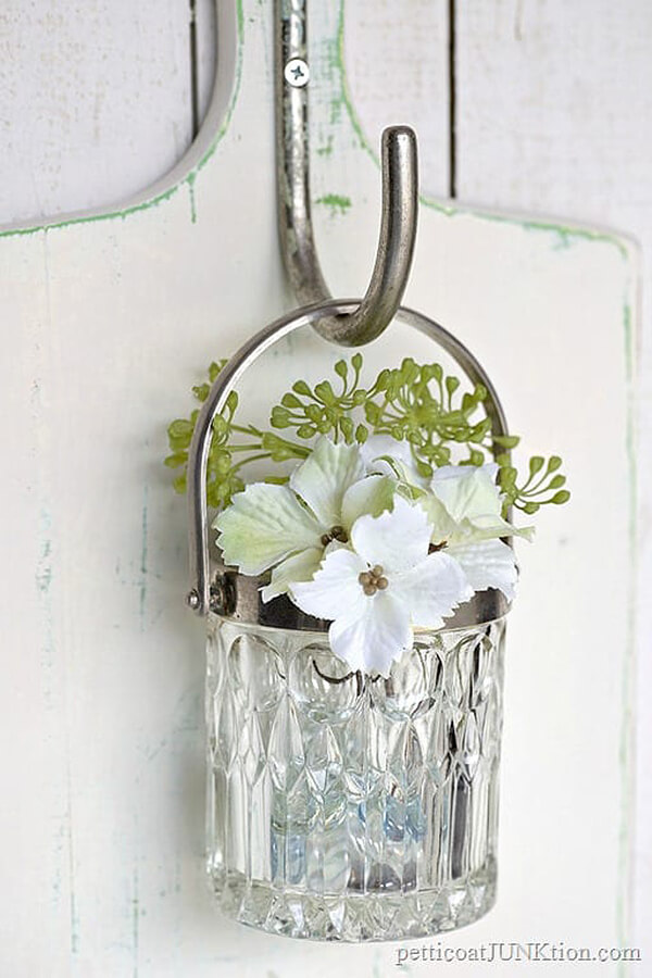 Beautiful Hanging Glass Wall Planter