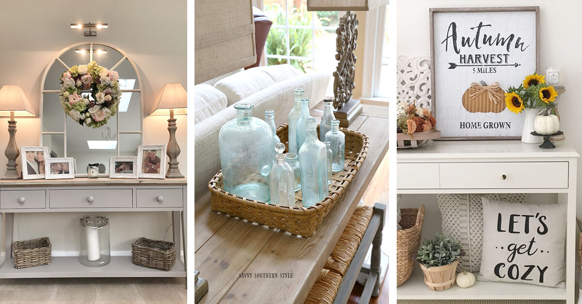 Decorating Ideas: 12 Best Console Table Decorating Ideas And Designs For 2019
