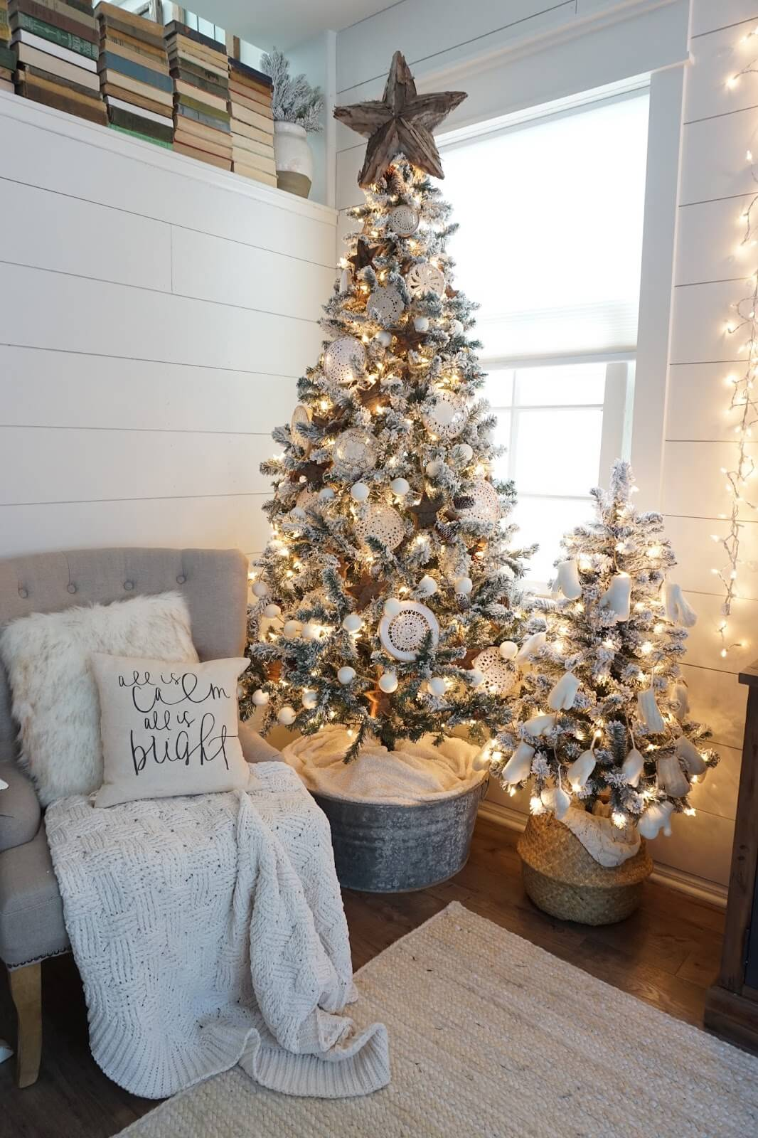 Breathtaking Dual Christmas Tree and Pillows Design