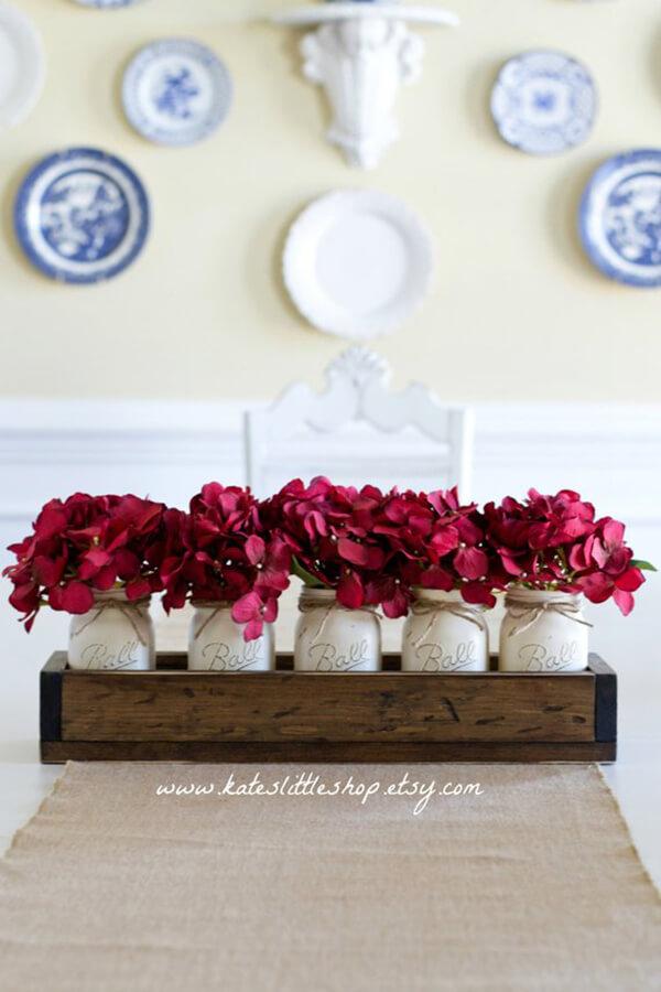 Farmhouse Flower Filled Mason Jars