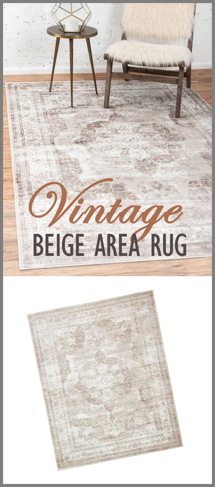 Vintage Meets Farmhouse, Sofia Collection Area Rug