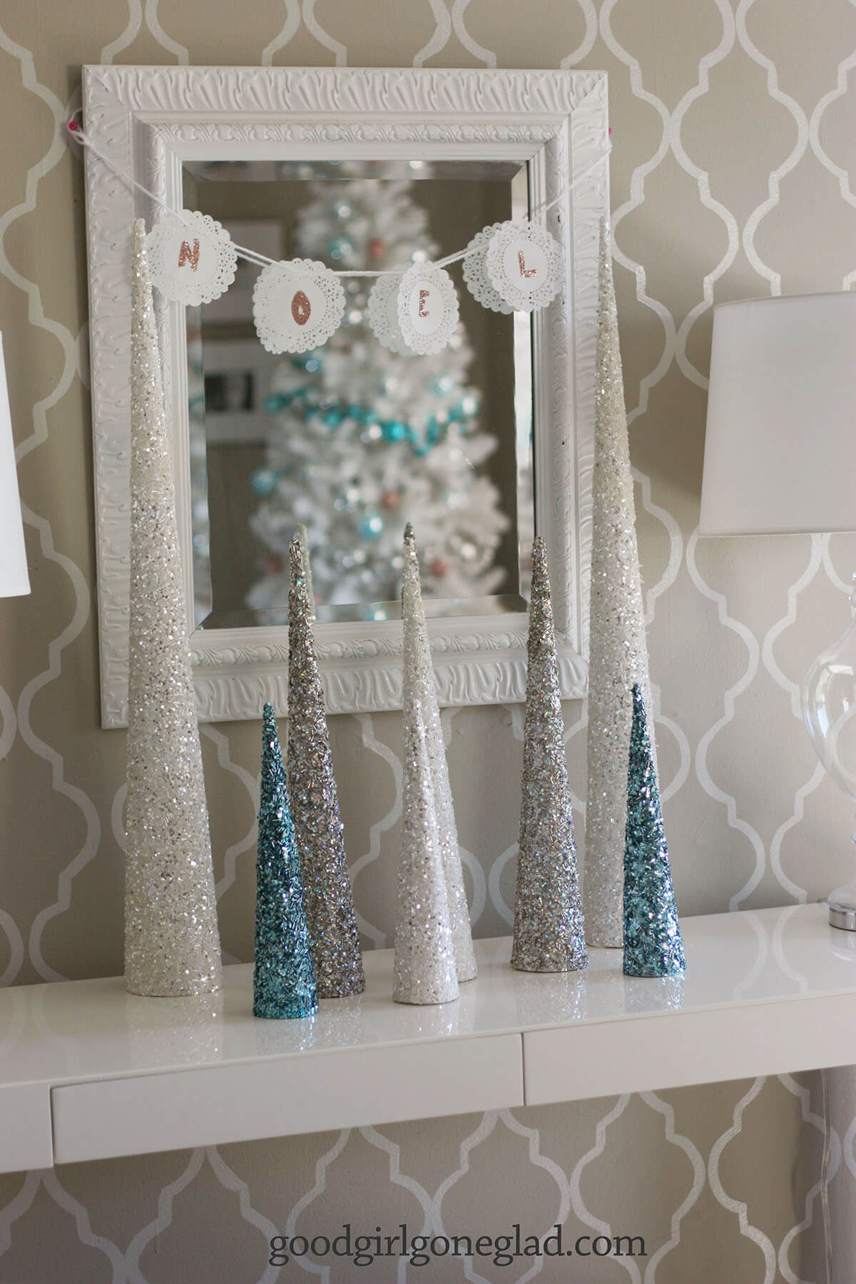 A Sparkling Silvery Forest Display