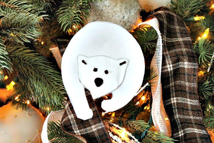 White Polar Bear Animal Decoration