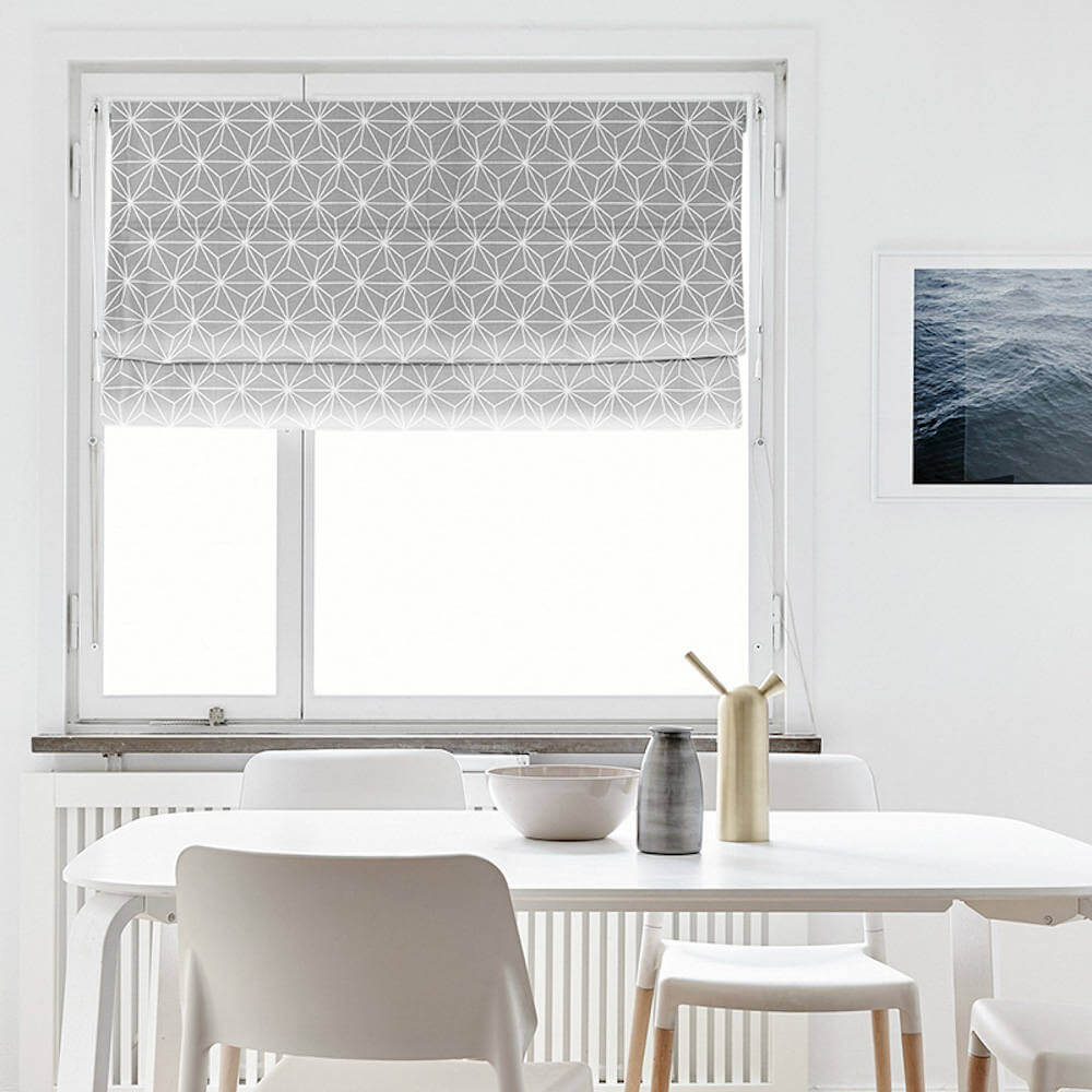Modern Geometric Roman Shade Curtain