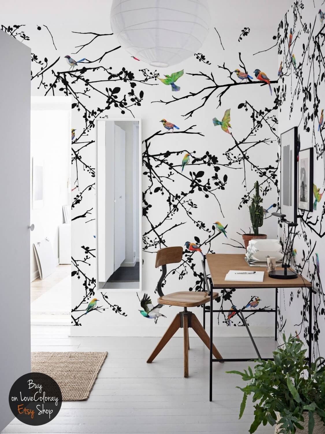 Whole Wall Bird and Branch Decor