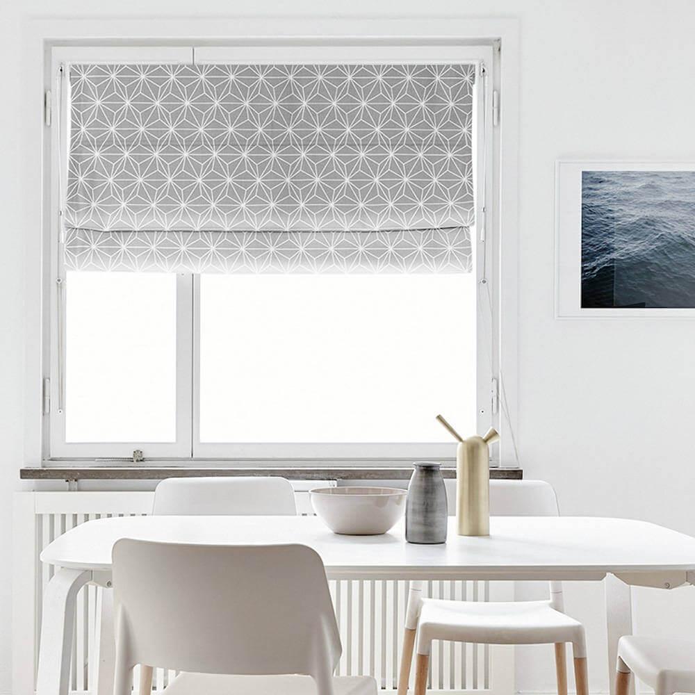 Modern Geometric Roman Shade Curtain