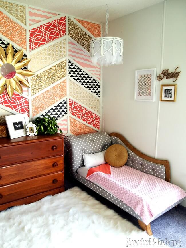 Colorful Patchwork Wall Decor Idea