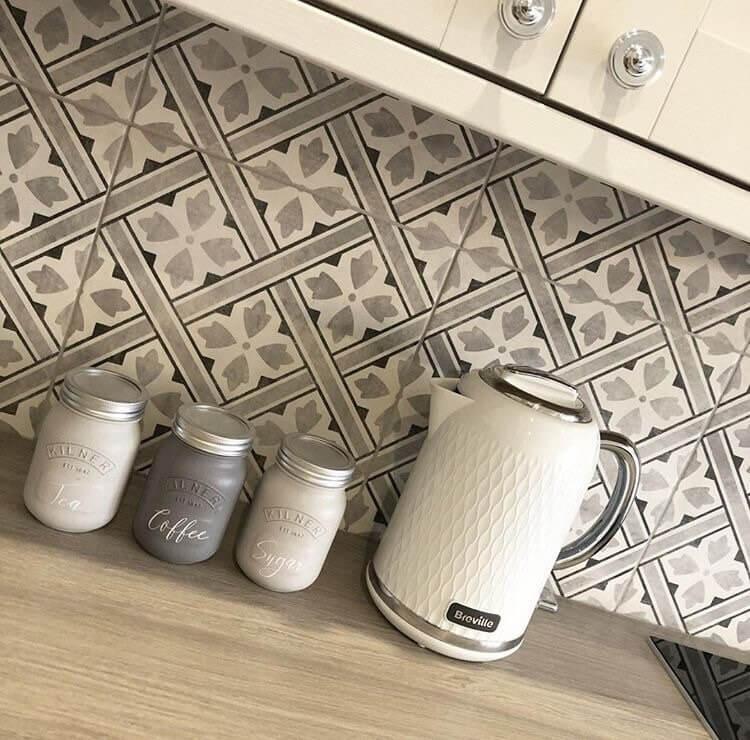 Light and Dark Grey Kilned Jar Canister Set