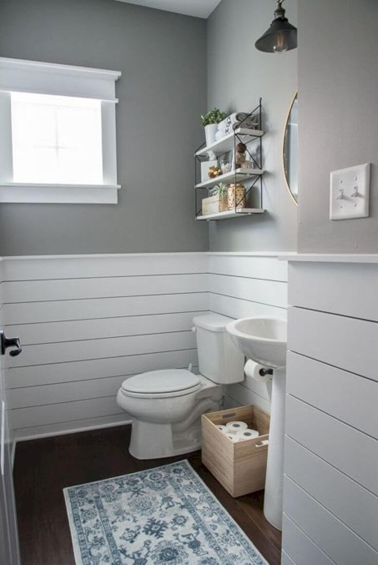 Restyling a Powder Room in a Brand New Home
