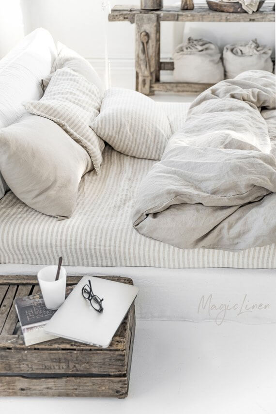 Natural Linen Bedding Set