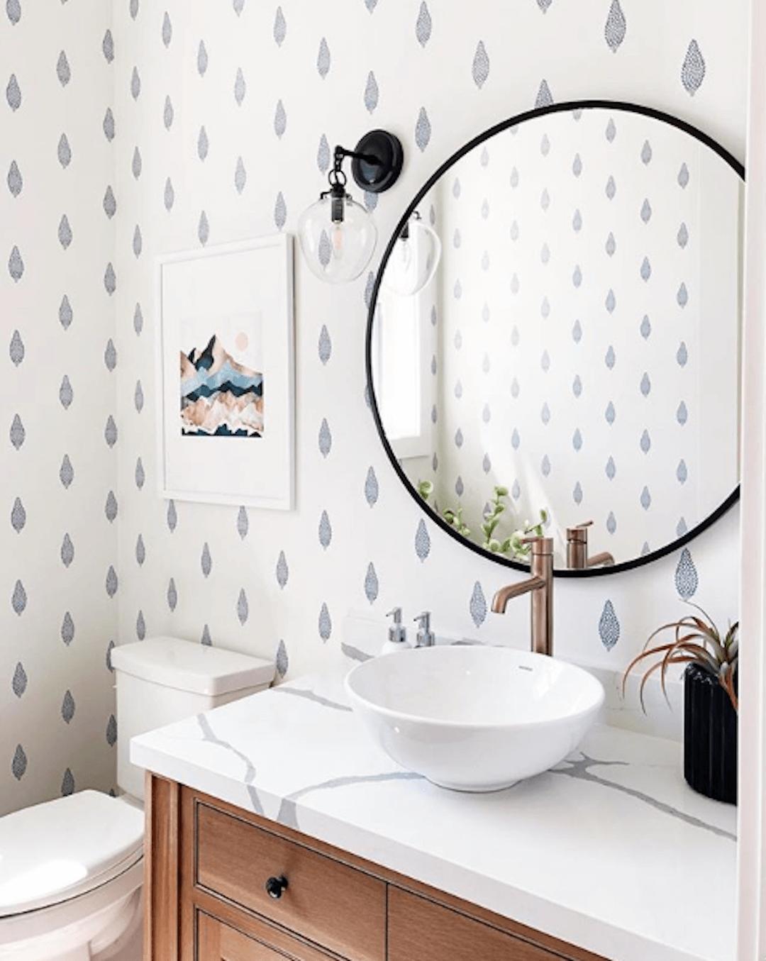 Simple Yet Elegant Navy Blue Pattern Wallpaper