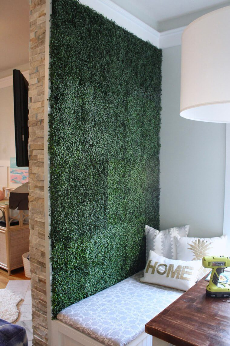 Boxwood Hedge Wall Inside Your Home