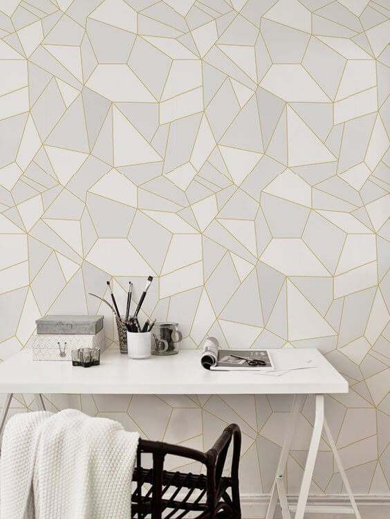 Triangles Peel and Stick Reusable Wallpaper