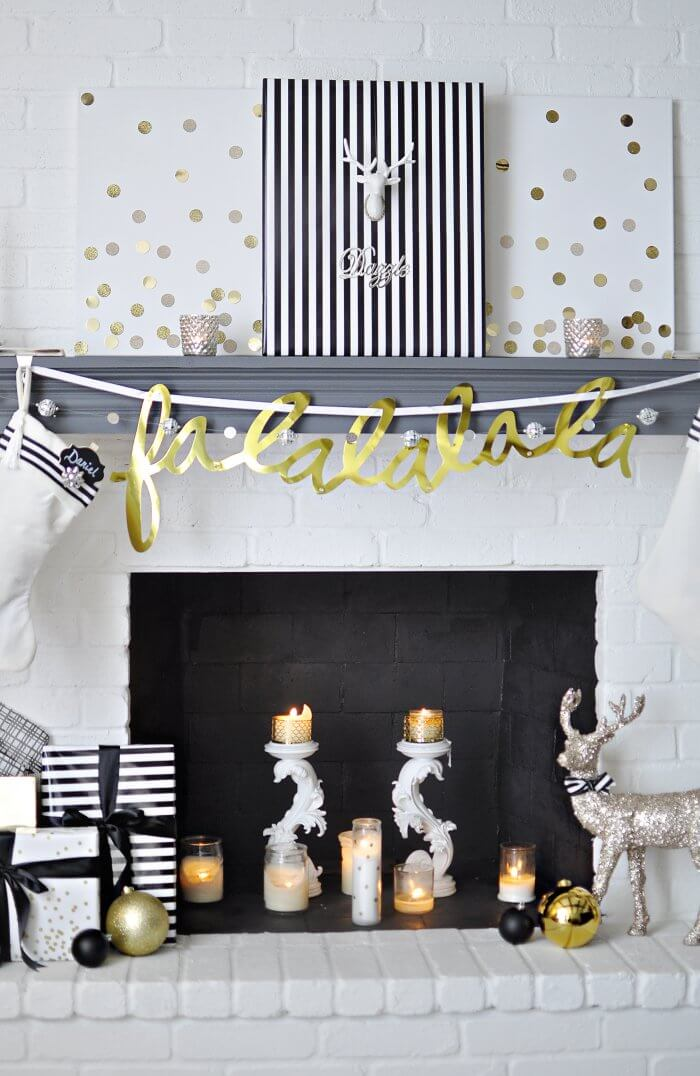 Mantle Display with Integrated Patterns