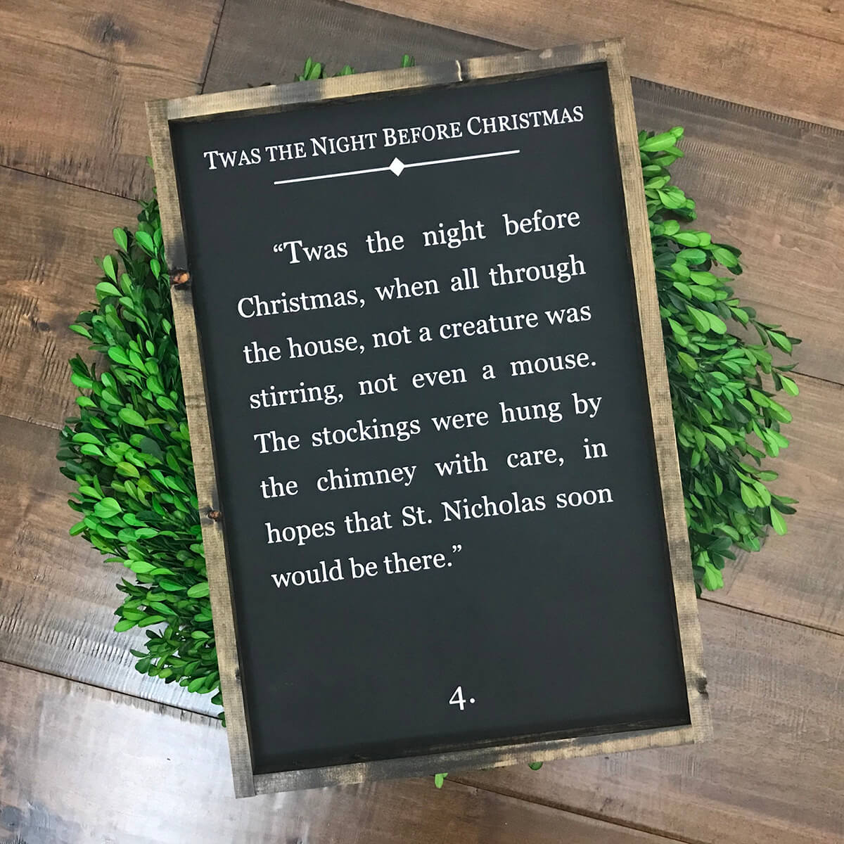 Classic 'Twas the Night Before Christmas Sign