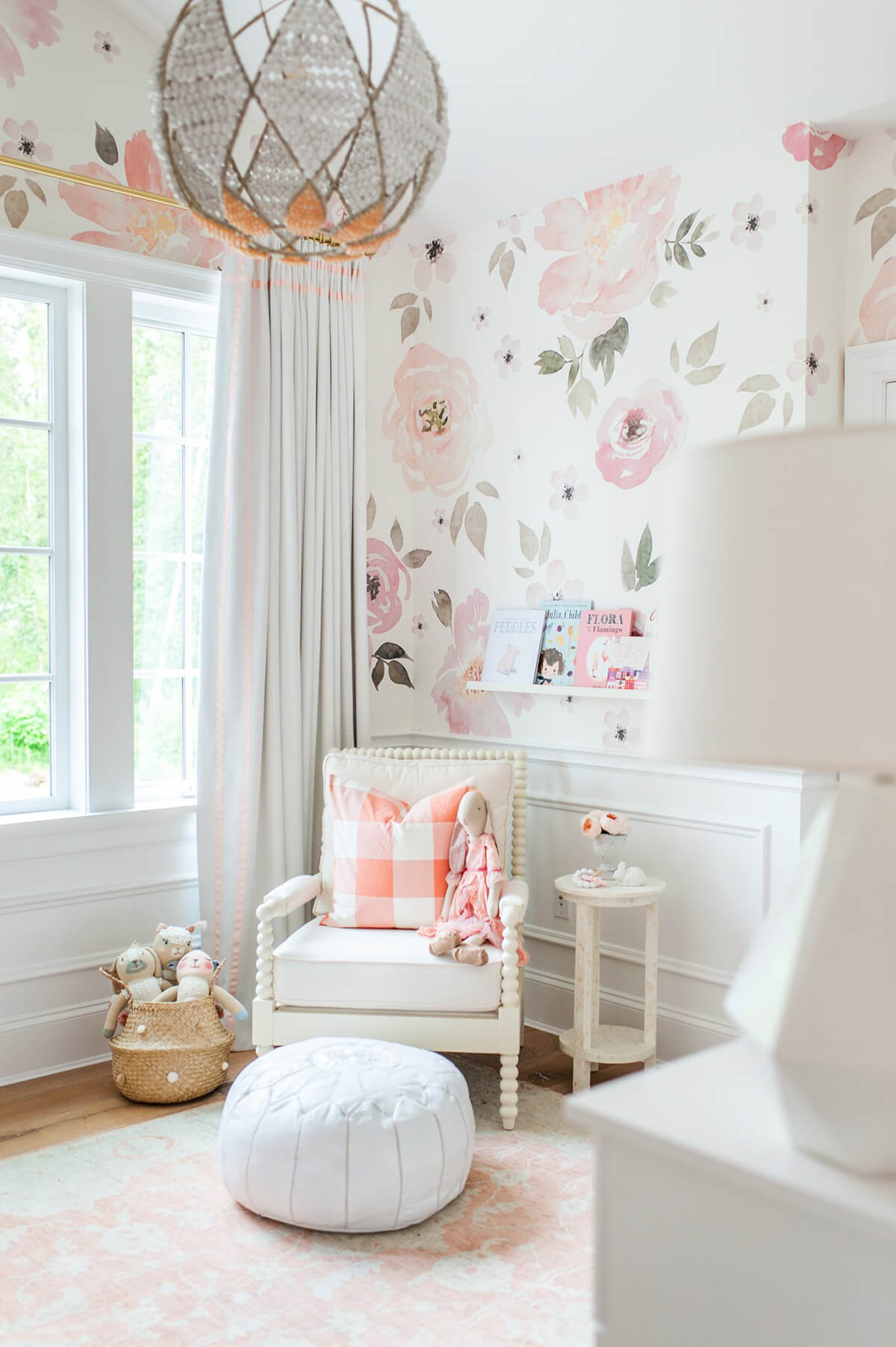 Muted Floral Pattern in Large Scale