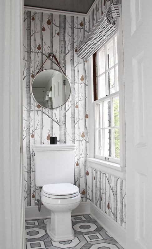 Easy DIY Wallpaper for Stylish Water Closet