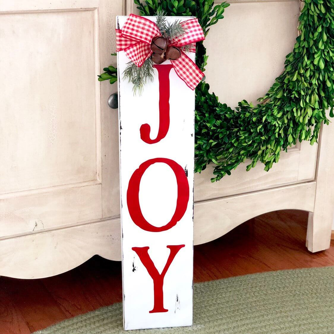 Joy Vertical Wooden Sign