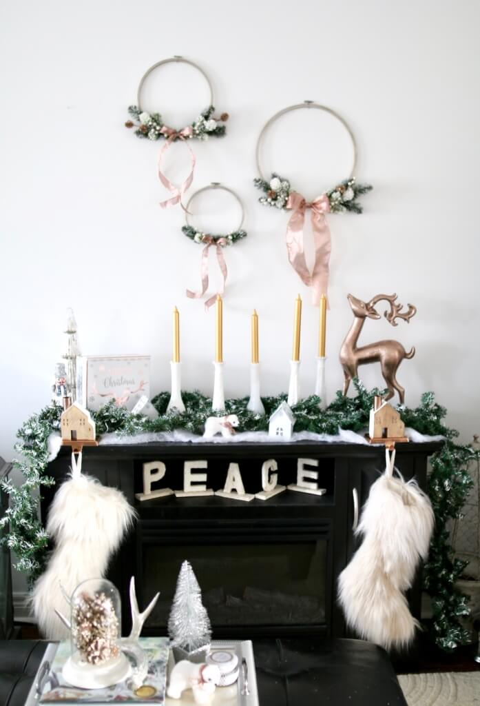 Fireplace Mantle Design with Stockings