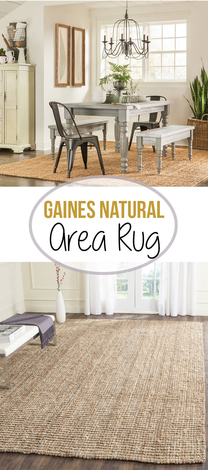 Handwoven Natural Jute Area Rug