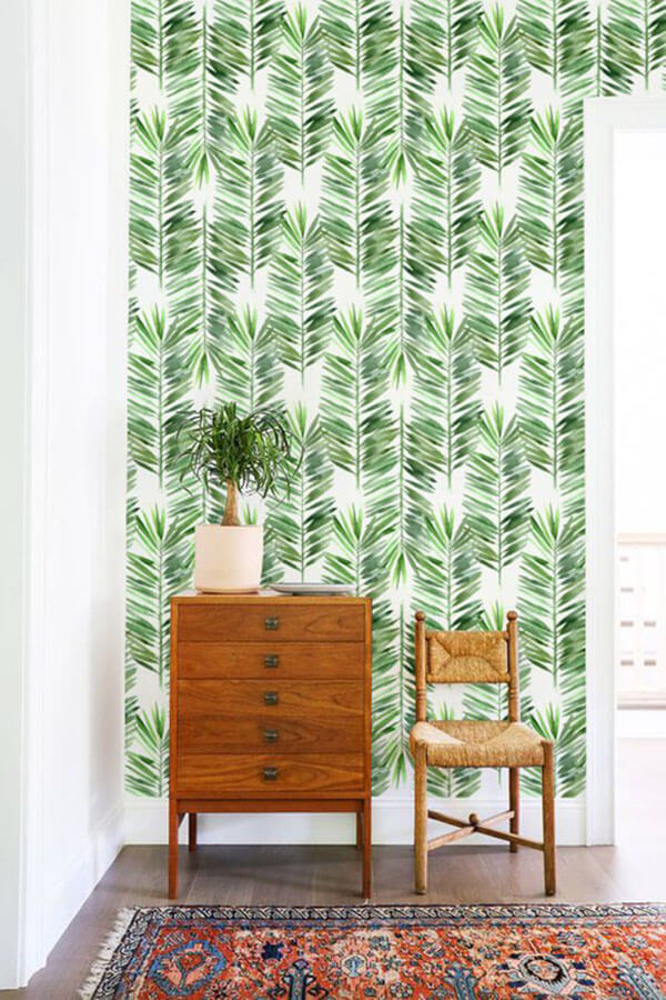 Pretty Tropical Palm Leaves Wall Art