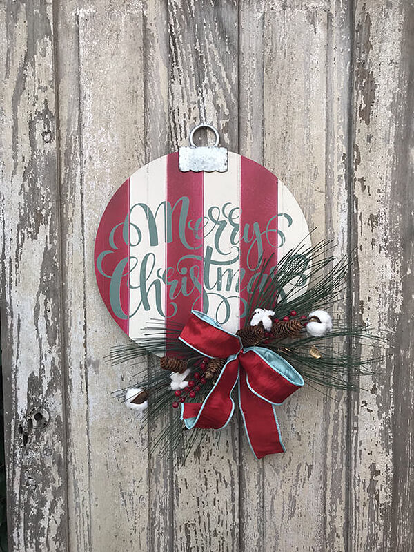 Merry Christmas Classic Wood Sign