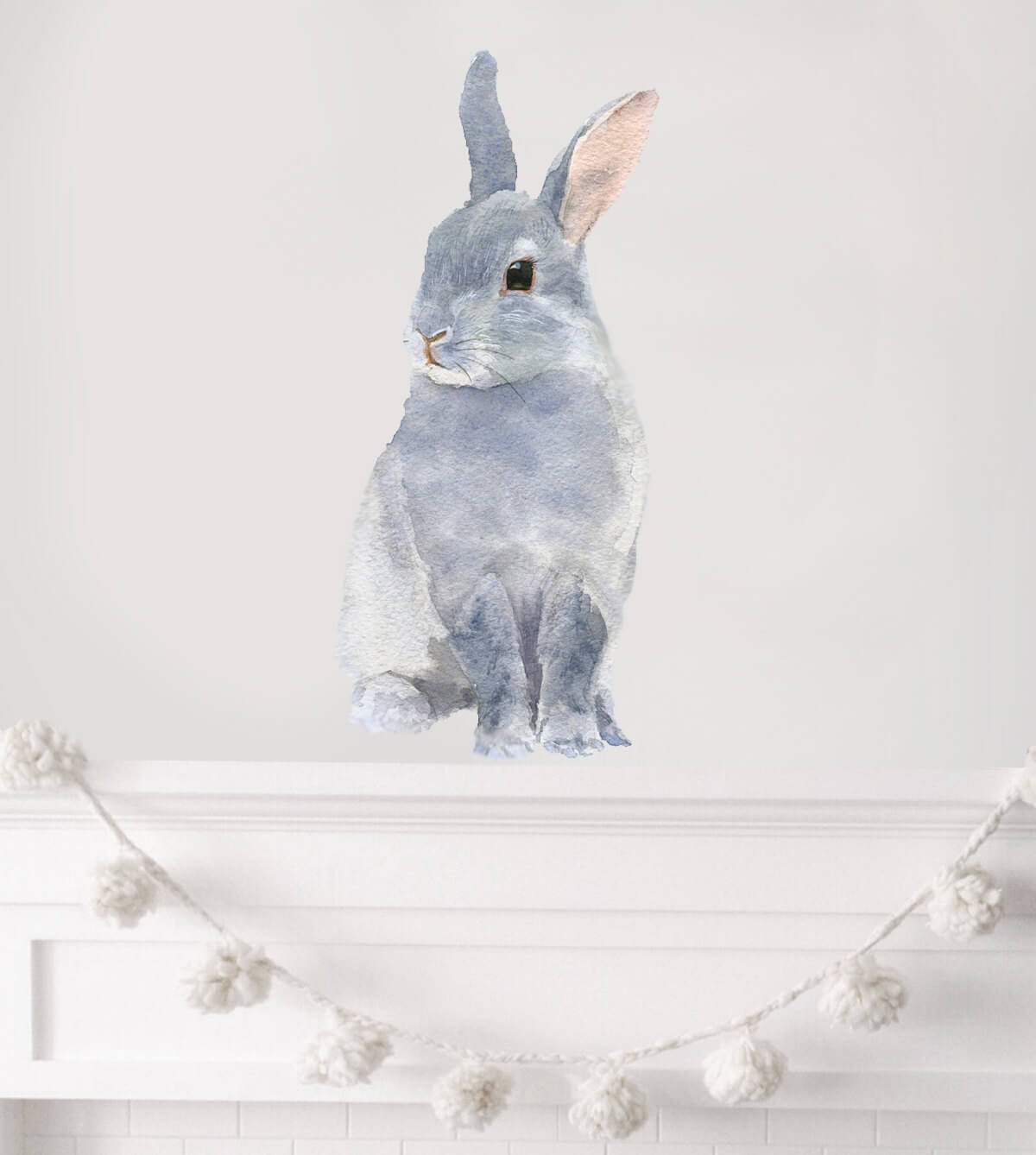 Gentle Water Color Bunny Wall Sticker