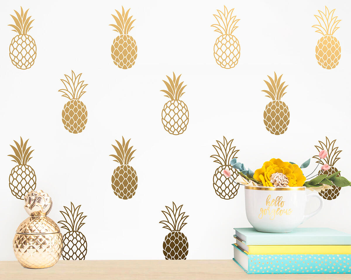 Mix and Match Pineapples Wall Art