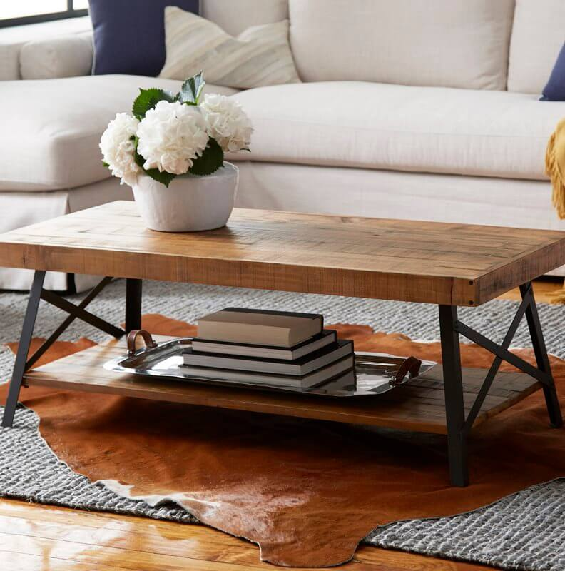 Gorgeous Hardwood Multi-Tiered Coffee Table